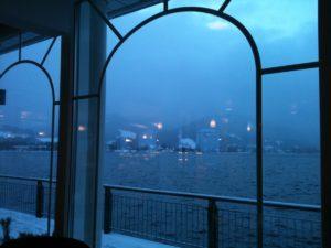 Blick auf den Tegernsee vom Café Kreutzkamm