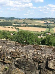 Landschaft von Burg Klenová
